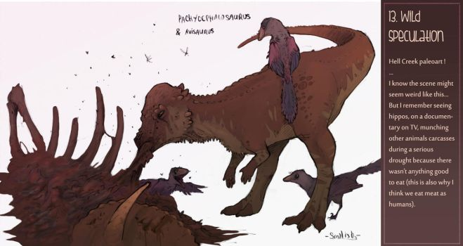 Dinosaur challenge : Day 13 by Galhaad