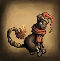 Jingle bell cat by Adrakitt