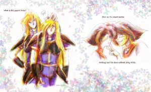 Slayers mirrored- Gourry, Amelia by EugeneCh