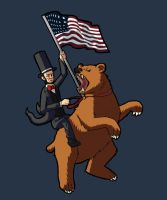 Lincoln and the Bear by littlealliegator