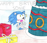 Happy Birthday Sonic by Z0MGedELR1C