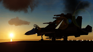 Naval Flanker Sunset by BillyM12345