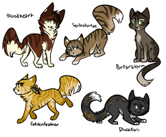 FREE Warrior Kitties .:CLOSED:. by jealousapples