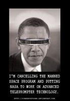 Obama's New Teleprompter by RedTusker