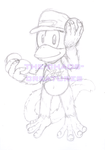 Diddy Kong by ScittyKitty