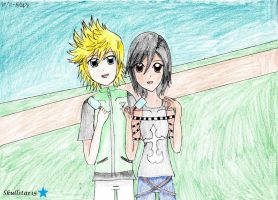 Ven and Xion cosplay +drawing+ by skullstar15