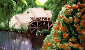 Water Mill by ABastinStar