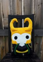 Loki pillow by Telahmarie