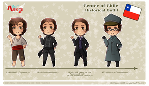 .:APH OC: Historical Outfit -Center of Chile- by Chisueo001