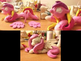 Cadence and Fluttershy Progress Shot by AlicornParty