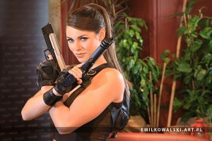 Alison Carroll as Lara Croft from Tomb Raider III by KowalskiEmil