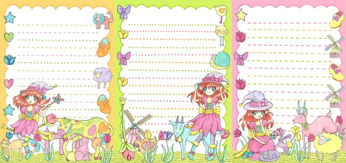 Dutch Kawaii letter paper by Santje-Chan