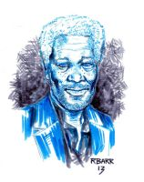 Morgan Freeman by RADMANRB