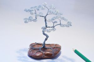 Wire tree sculpture  bonsai by minskis