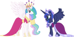Princesses' Coronation Dresses Redesigned by Bananers97