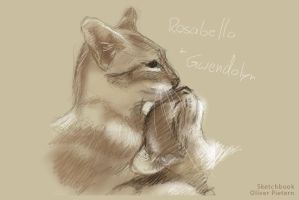25 Min digital Sketchbook sketch of cuddlekittys by hoschie