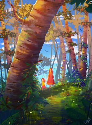Spring Forest by FancyFoxy