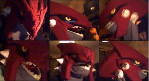 grouchy the groudon mask by lorduria