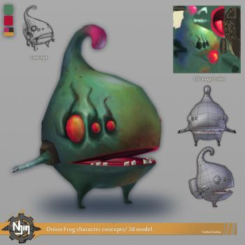 Onionfrog 3D concept by DiegoHelterSkelter
