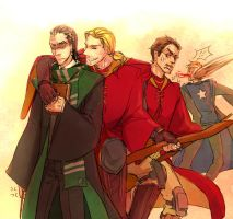 The avengers in Hogwarts by whodemonf
