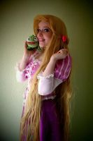 Rapunzel and Pascal by Childishx