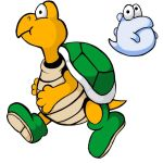 Koopa Troopa and Eerie by threeQuestions
