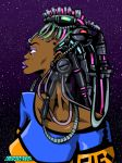 Cyber locs by chriscrazyhouse