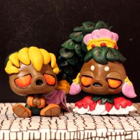 Deku Link and Deku Princess LPS customs by pia-chu