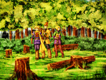 Golden Sun - Kolima Forest by neshirys