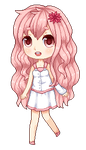 Alice pixel chibi + SPEEDPAINT by Riuori