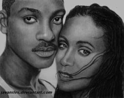 Will and Jada Smith by javaniles
