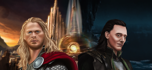 Thor and Loki by Taitiii