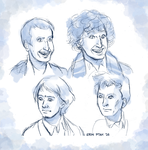 Sketch - Doctor faces by ErinPtah