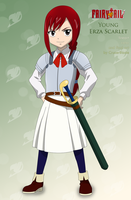 Young Erza Scarlet by CruzerBlade