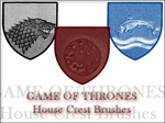 Game Of Thrones House Crests Brushes by LiviaAlexandra
