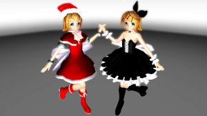 MERRY CHRISTMAS Rin Models for download by DeathNoteE