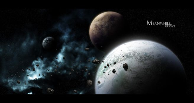 Meanwhile in space by VellGFX