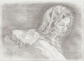 Jezus and Mary Pieta by TheSignmaker