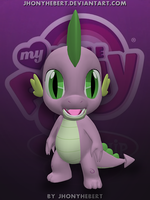 Spike - My Little Pony by JhonyHebert