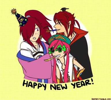 Kou New Year by Clawzipan