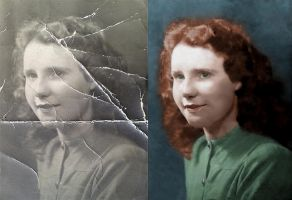 Girl 1933 - before after by B-D-I
