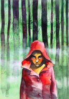 Where is the wolf? (Another little red riding hood by andreuccettiart