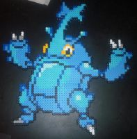 Heracross Perler Bead Sprite by TheSuperBoris