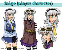 Saige character sheet by Pacthesis
