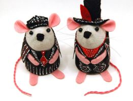 White Stripes Mice by The-House-of-Mouse