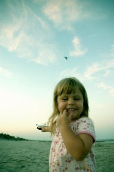 Kelly Flying Kite - 2 by barefootinthesky