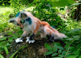FOR SALE - WereFox Posable handmade OOAK Art doll. by HoneyCricket