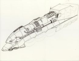 NH Hover train final render partial inking day 2 by Jepray