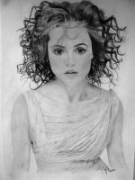 Helena Bonham Carter portrait by XxMondayMorningxX