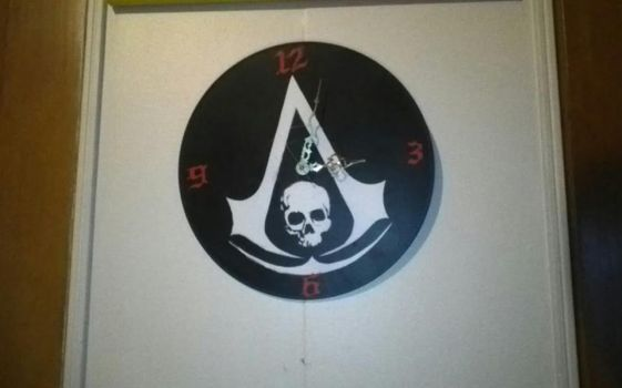 Assassins Creed 4 Black Flag clock by Toastastic